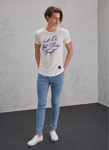 Pi π Skinny Jean Pantolon Mavi